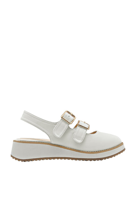 Dual Strap Slingback Derby with Buckle