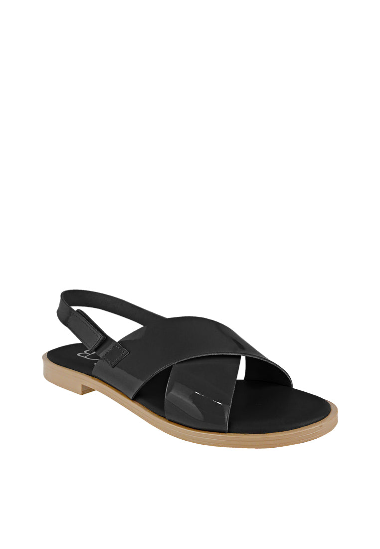 Criss-cross Slingback Flat Sandals