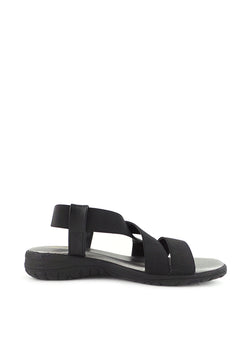 Criss-Cross Elastic Strap Flat Sandals