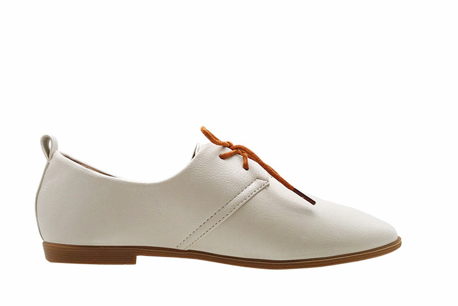 Lace Up Derby Flats