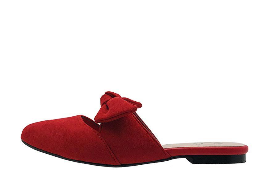 Slip On Mules with Bow