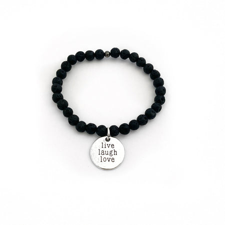 Lava Affirmation Bracelet - Live Your Dream