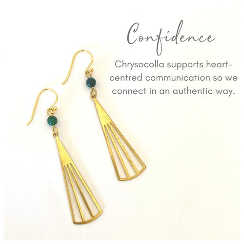confidence fan earrings