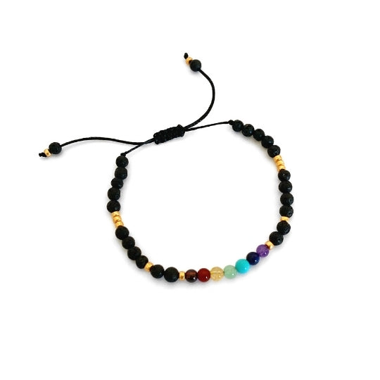 Karma Bracelet for Balance: Imbalanced Chakras compromise mental, physical and emotional wellbeing. These crystals will balance the Chakras to promote radiant health and vitality.
