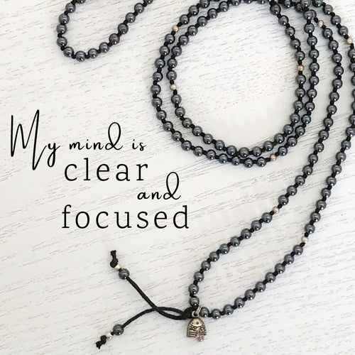 Hematite is the stone of the mind. It is great for tackling brain fog and improves mental clarity, concentration and focus.