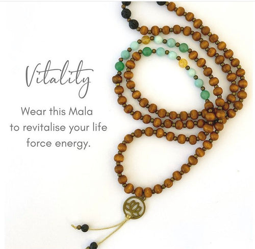 Kaya Jewellery - Chakra balance and Essential oil diffuser Jewellery - Vitality mix for fatigue