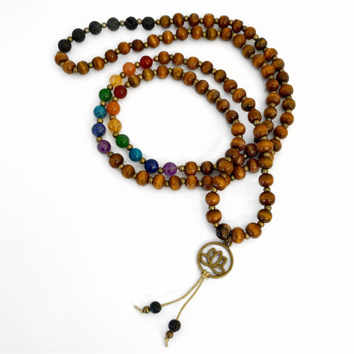 Kaya Jewellery - Chakra balance and Essential oil diffuser Jewellery - Harmony Mala Limited Edition - Chakra Mix