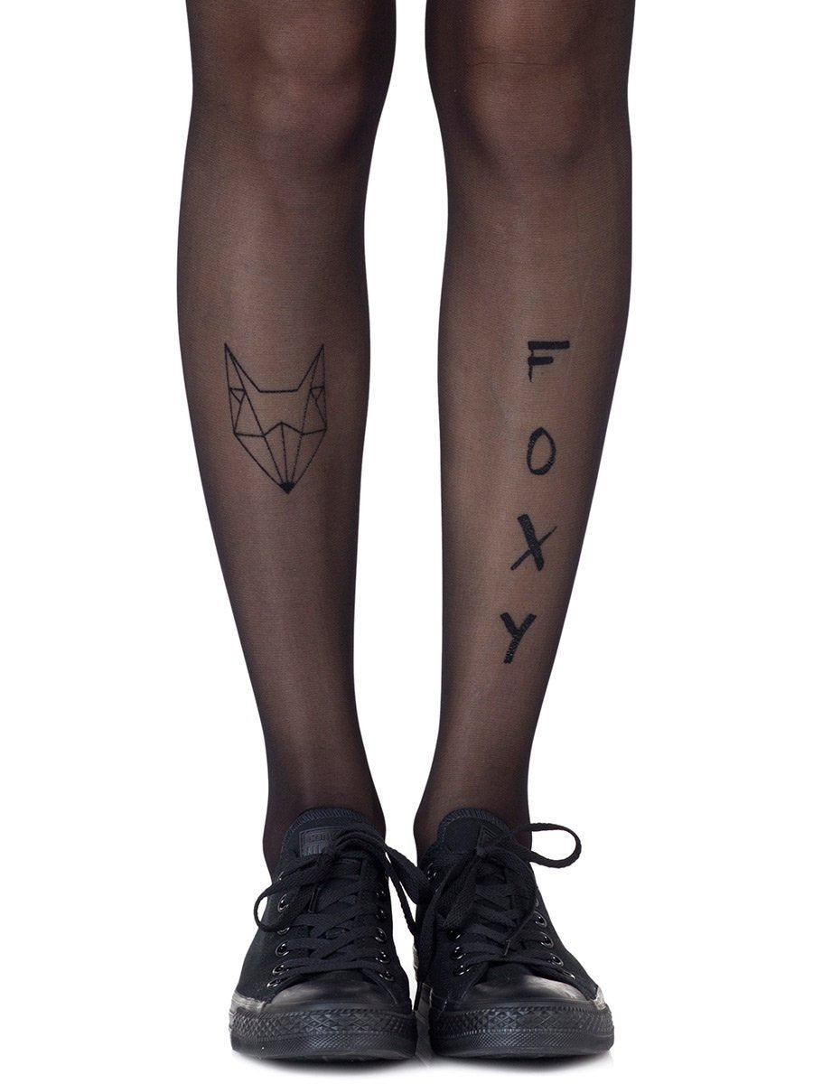 Foxy Black Sheer Tights