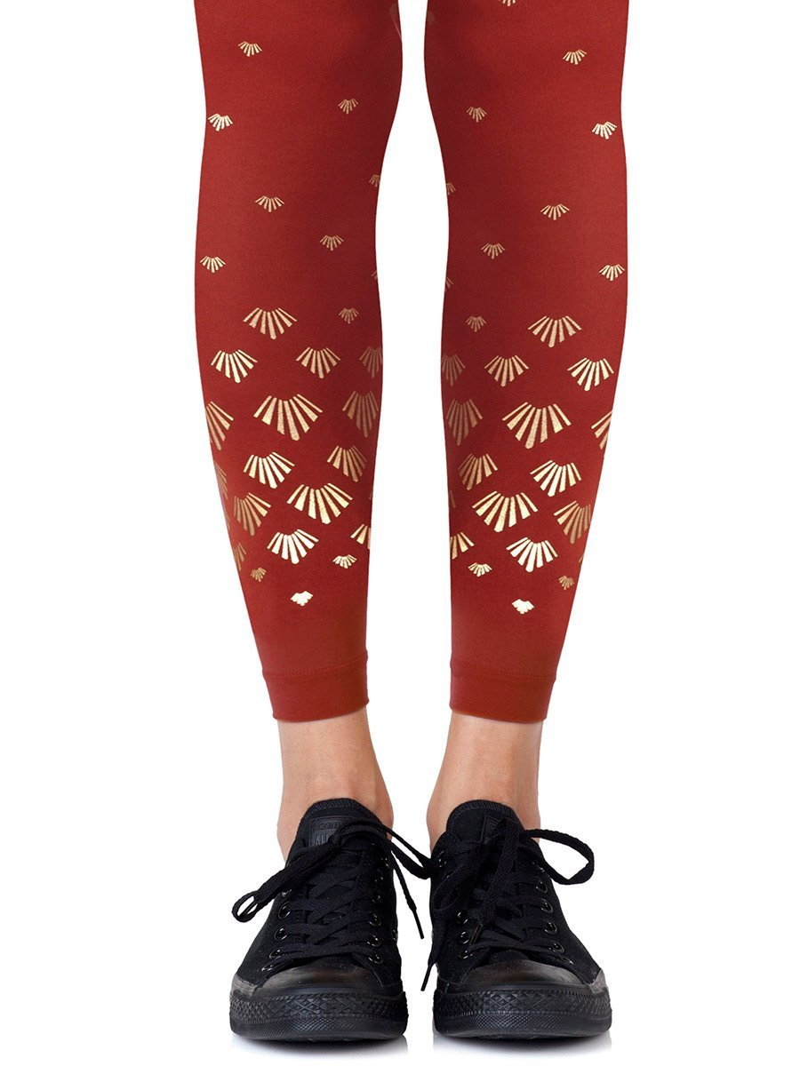 Shell Out Rust Footless Tights