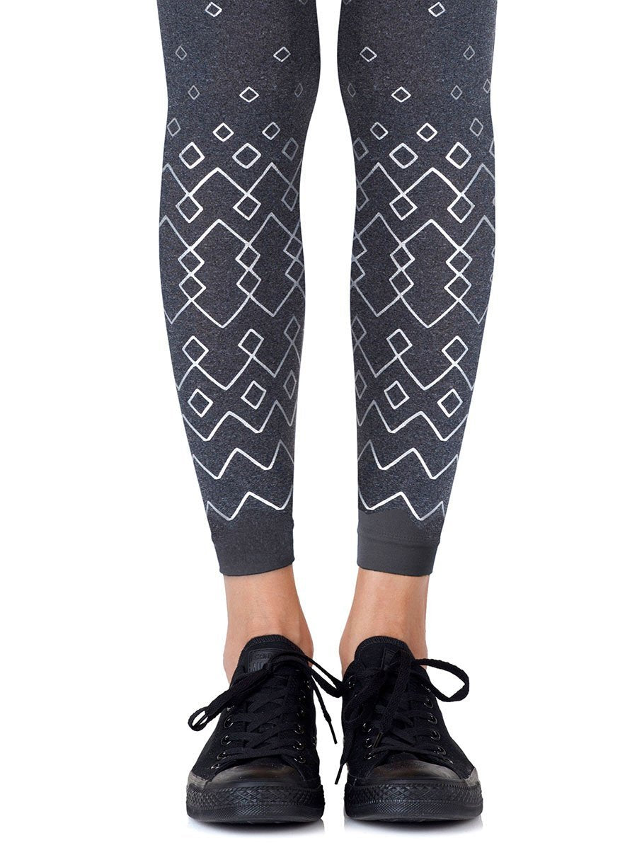Diamonds Are Forever Heather Grey Footless Tights