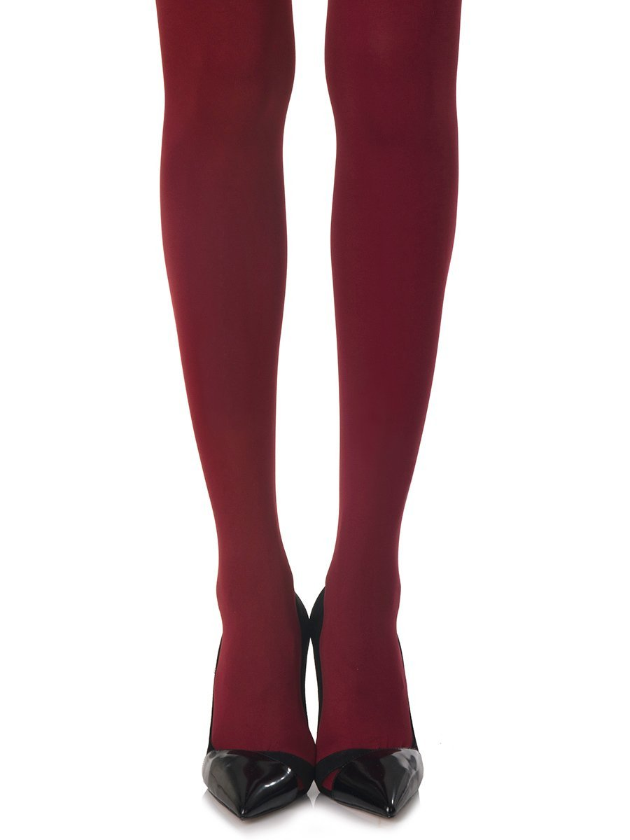 Solid Burgundy Tights