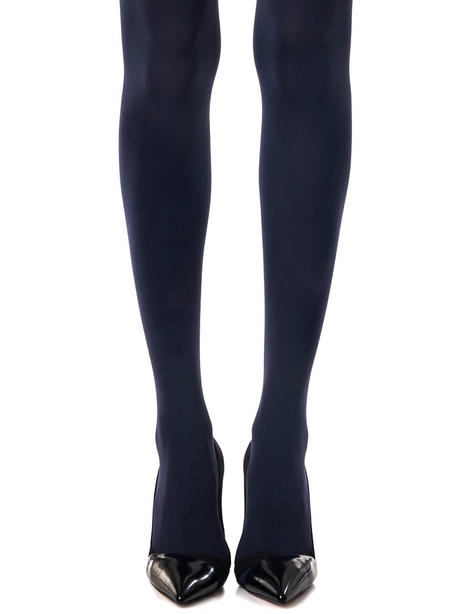 Solid Navy Tights