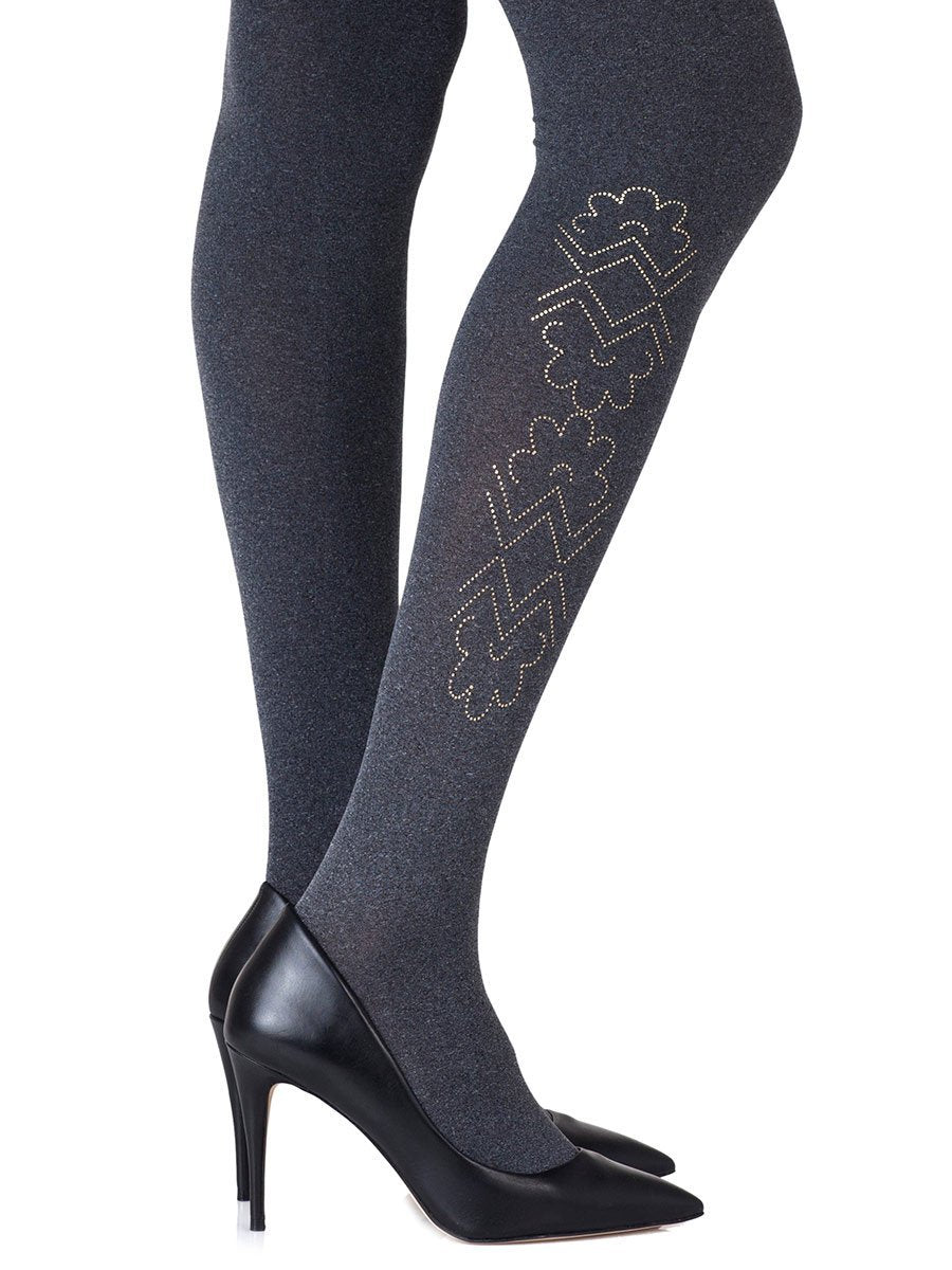 Caught In The Metal Heather Grey Tights