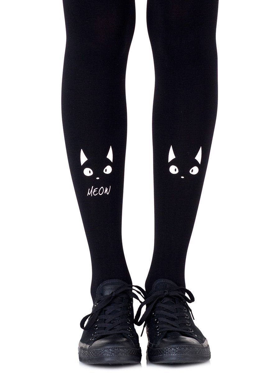 Nice Kitty Black Tights