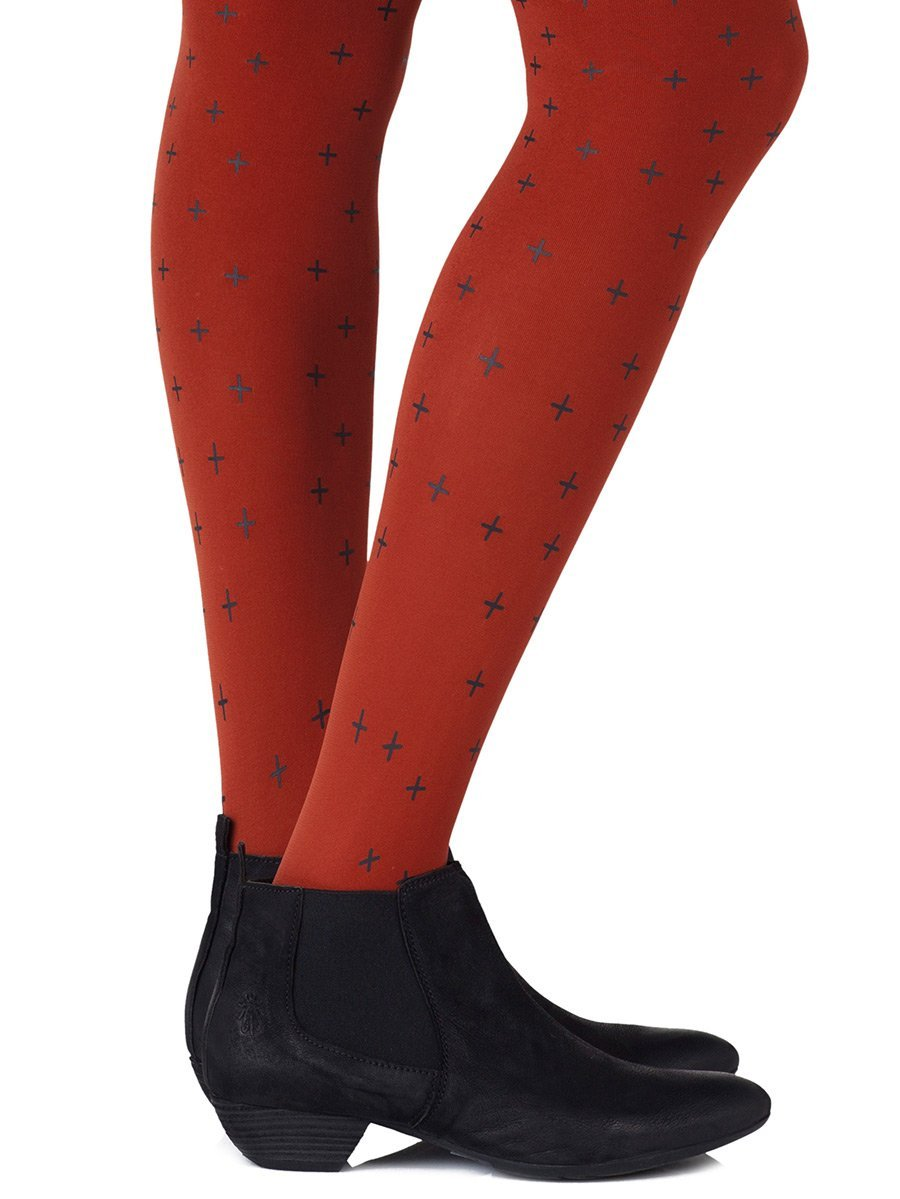 You + Me = Love Rust Tights