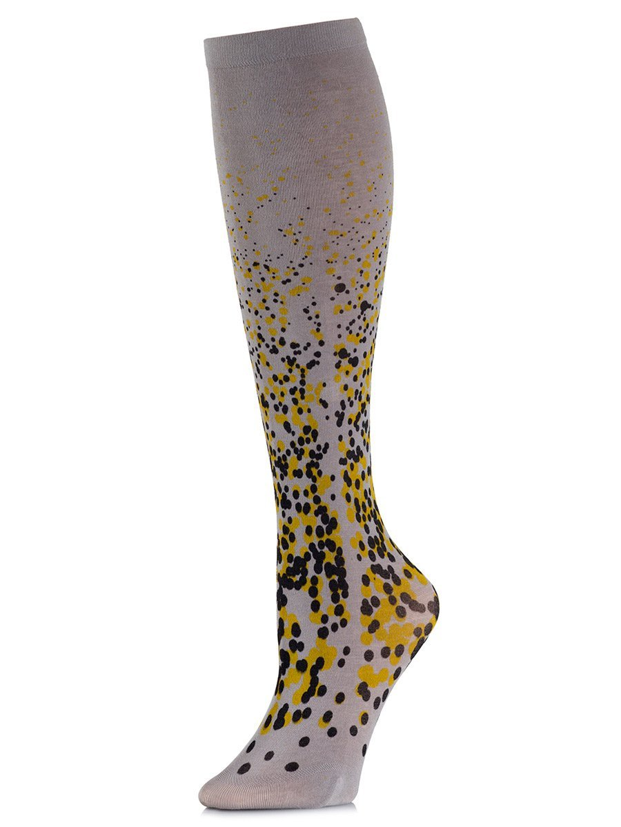 Paint It Black Yellow Knee-High Socks