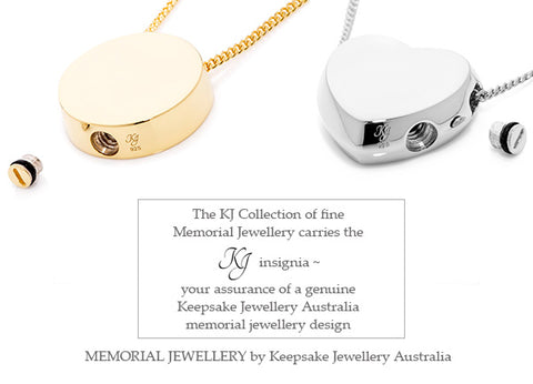 KJA Branded Cremation Jewellery Collection