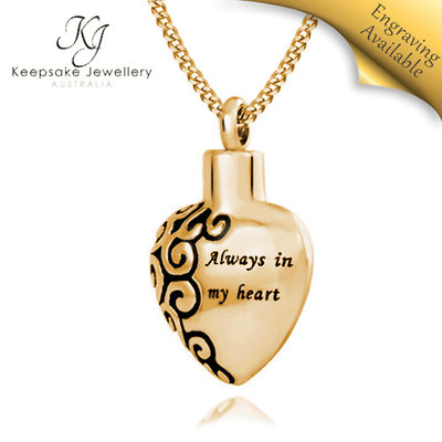Always In My Heart Cremation Pendant GSTS e