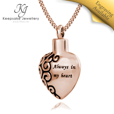 Always In My Heart Cremation Pendant RGSTS