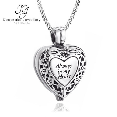 Always In My Heart Locket for Ashes STS