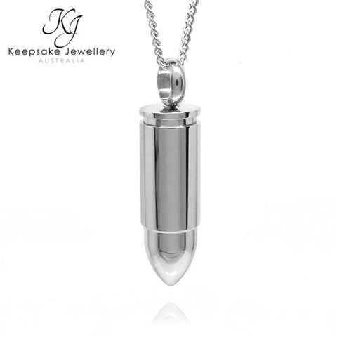 Bullet Cremation Pendant Stainless Steel