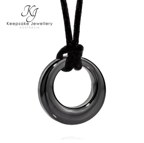 Dark Slate Eternity Necklace for Ashes STS