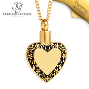 Filigree Edged Heart Cremation Pendant GSTS