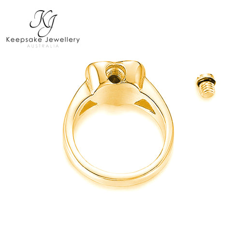 Heart Ashes Ring (Gold Stainless Steel)