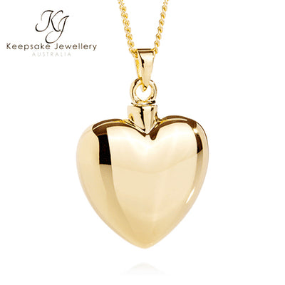 Heart Necklace for Ashes 9ct Gold