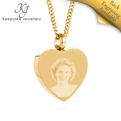Heart Photo Cremation Jewelry GSTS e