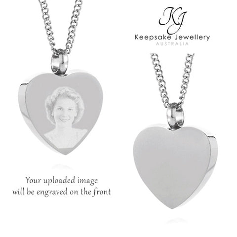 Heart Photo Cremation Jewelry (Stainless Steel)