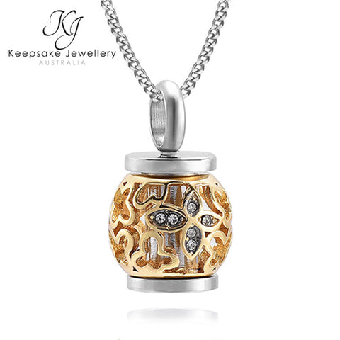 Lacework Lantern Locket for Ashes GSTS