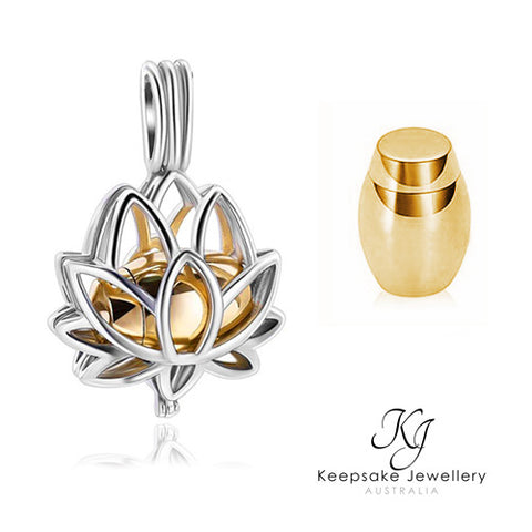 Lotus Ashes Necklace (Gold Stainless Steel)
