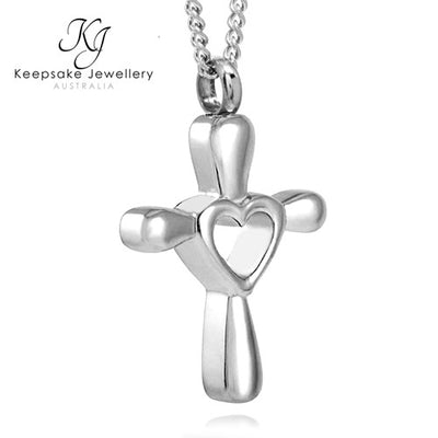 Love Cross Memorial Pendant