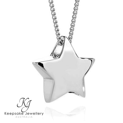 Medium Star Memorial Pendant Silver