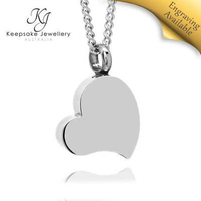 My Heart Keepsake Memorial Jewellery (Stainless Steel)