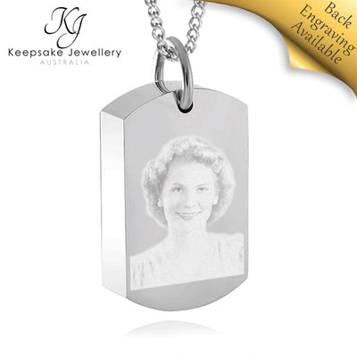 Photo Dog Tag Necklace for Ashes STS e