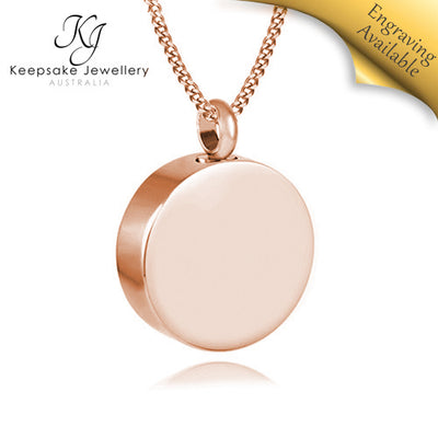 Round Memorial Jewellery (Rose Gold Stainless Steel)