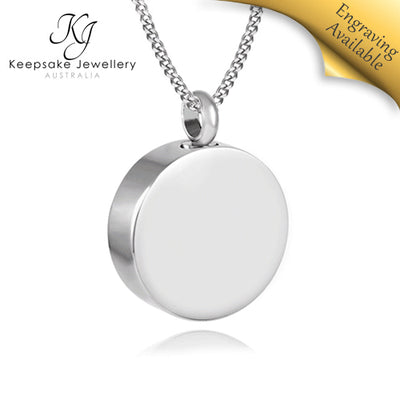 Round Memorial Jewellery STS e