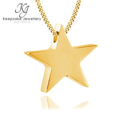 Star Memorial Pendant for Ashes