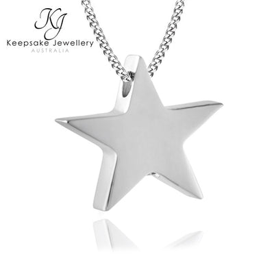 Star Pendant for Ashes (Stainless Steel)