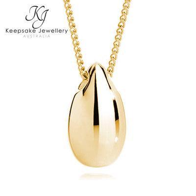 Gold Teardrop Memorial Jewellery