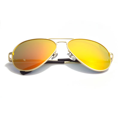 Gold Frame/Mirror Orange Lens