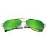Gold Frame/Mirror Green Purple Lens