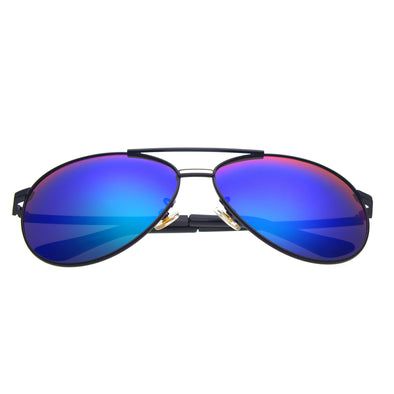 Black Frame/Mirror Blue Lens