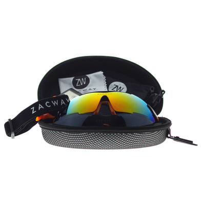 Black Orange Frame/Mirror Set Lens