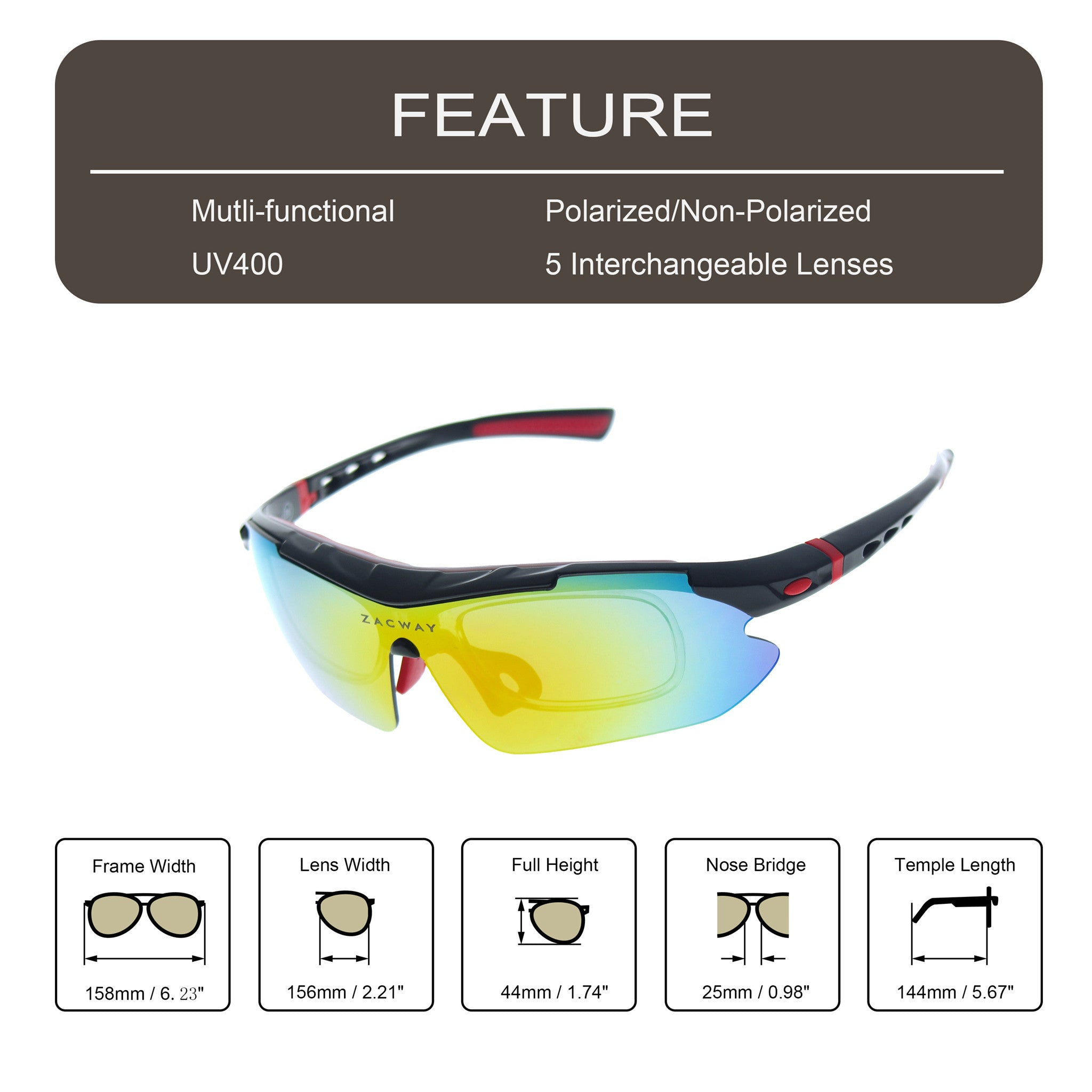51f726b5db3 Polarized Sports Sunglasses With 5 Interchangeable Lens « One More Soul