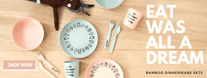 Bamboo Dinnerware. Hip-hop kids dinnerware