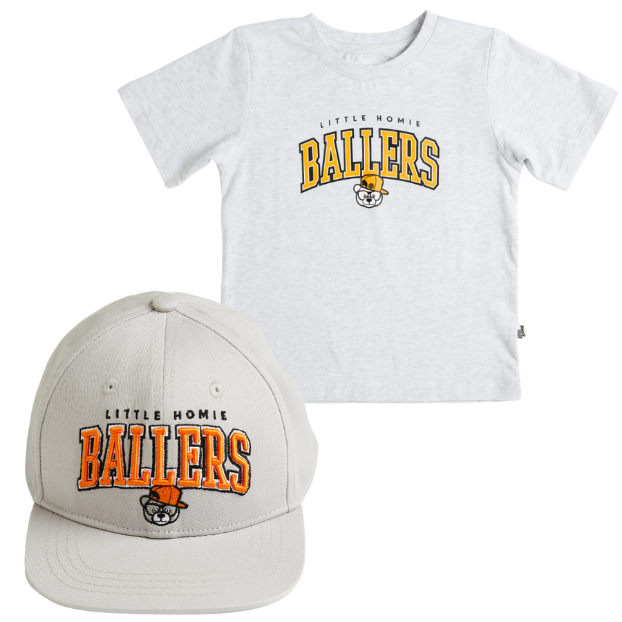 Little Homie Ballers tee & cap Bundle