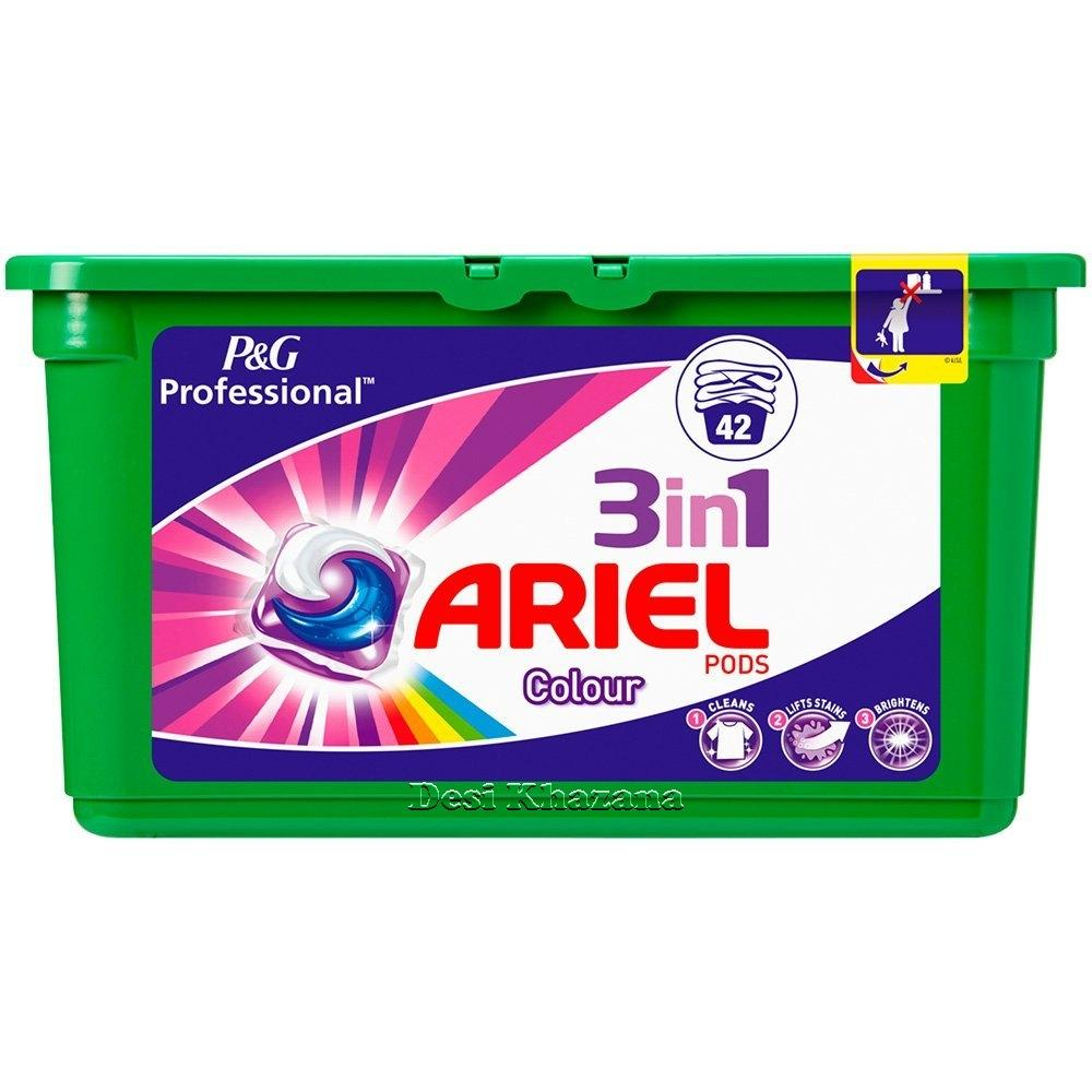 Ariel 3 In 1 Color Pods 42 - Desi Khazana